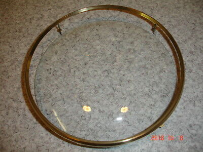 Smiths clock glass and brass bezel  Dia 155mm dome depth 20mm