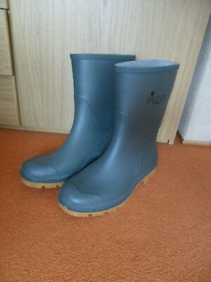 "Mens Briers Green Gardening Wellies Size 8(42) 10"" High Leg ~ Exc Cond"