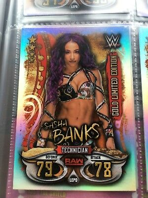 Topps WWE SLAM ATTAX LIVE 2018 - Gold  & Silver Limited Edition Foil cards