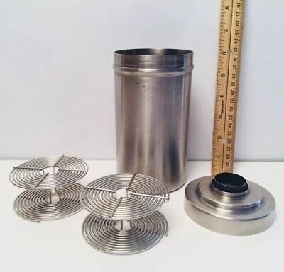 NIKOR Products Developing Tank with 2 Reels 35mm Film USA Stainless Steel