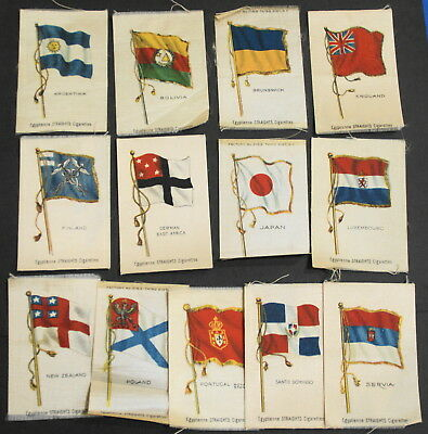 13 Different Egyptienne Straights Cigarette Tobacco Silk Flags