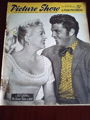 PICTURE SHOW. 27th JUNE 1953, BETTY GRABLE & DALE ROBERTSON. FRONT COVER.