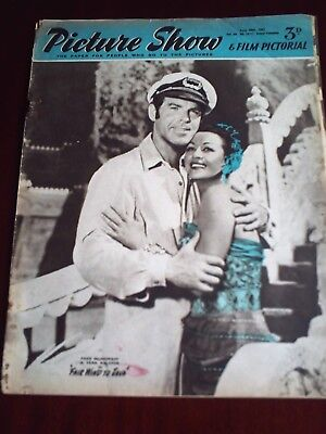 PICTURE SHOW. 20th JUNE 1953, FRED McMURRAY & VERA RALSTON. FRONT COVER.
