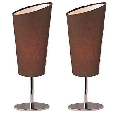 Lightaccents Bedroom Side Metal Table Lamps Set of 2 Coffee 4.7 X 12.4 inches