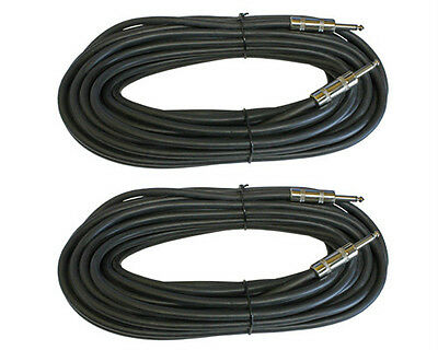 2 1/4 to Speaker pro audio cables 14GA gauge TS mono PAIR 50ft foot PA DJ cords