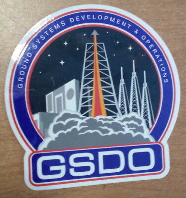 Original Nasa Gsdo Ground Systems Development & Operations Space Sticker