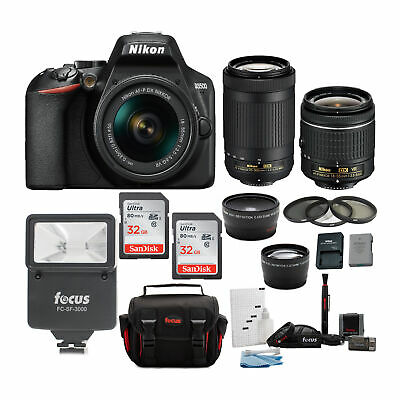 Nikon D3500 DSLR Camera with 18-55 and 70-300mm VR Lenses and 64GB Bundle
