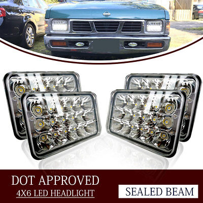 """4PCS Dot Approved 4 x 6"""" LED Headlights Replacement for H4651 H4652 H4656 H4666"""