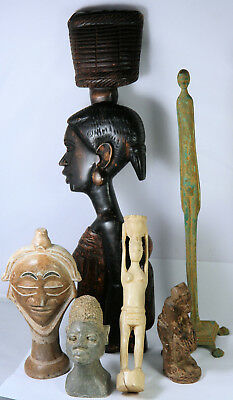 African bits and bobs, carvings and and stone heads