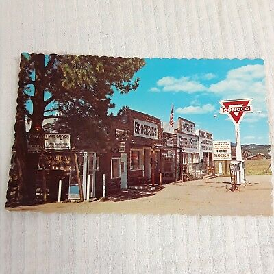 Vintage Conoco Station Lake George CO POSTCARD Sanborn The Gays General Store