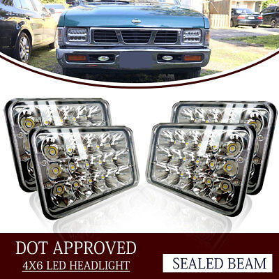 """4PCS Dot Approved 4x6"""" LED Headlights Replacement for H4651 H4656 H4666 Headlamp"""