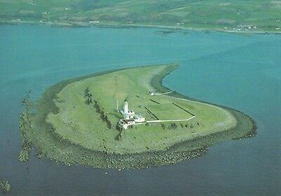 RARE PLADDA ISLAND LIGHTHOUSE ARIAL VIEW Brodick KILDONNAN ISLE of ARRAN