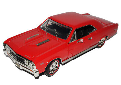 Chevrolet Chevy Chevelle SS396 Coupe Rot 1964-1967 1/18 Motormax Modell Auto m..