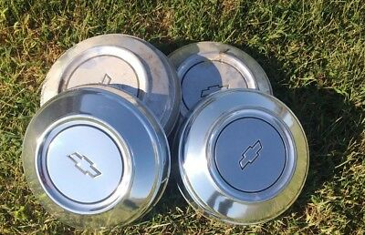 4  Chevrolet Chevy Dog Dish Hubcaps