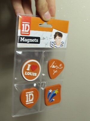 Louis Tomlinson One Direction 1D Band Locker Magnets Music Band 4 Pc BRAND NEW