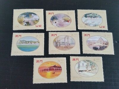 Macao 1995 Sg 871-878 Paintings By Lio Man Cheong Mnh (M)