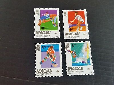 Macao 1992 Sg 779-782 Olypic Games Mnh (M)