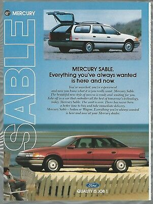 1987 MERCURY SABLE advertisement, sedan & station wagon