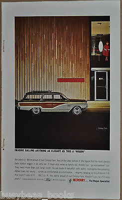 1964 MERCURY COLONY PARK wagon advertisement, Mercury ad,  station wagon