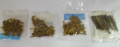 New 50pc Pack of Brass Escutcheon or Bezel Nails for Clocks & More - 11 Sizes!