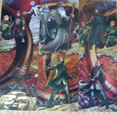 Lord of the Rings Topps Masterpieces Complete Kayanan Etched Foil Chase Card Set