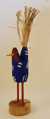 Native American Navajo Folk Art Chicken signed by L Herb
