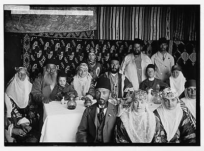 Bokhara,Bukharan Jews on Feast of Tabernacles Sukkot,Middle East,American Colony