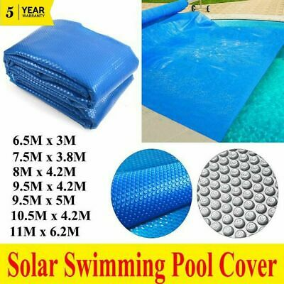 Solar Swimming Pool Cover Outdoor Bubble Blanket Heater 500 Micron 9 Size