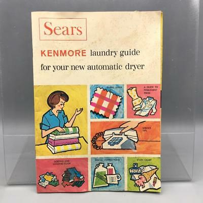 Vintage Kenmore Automatic Dryer Laundry Guide mv