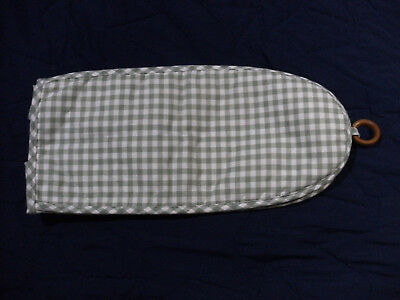 """Vintage Green/Off White Checkered Dust Cover 6""""x7""""x16"""" for ?? - Never been used?"""