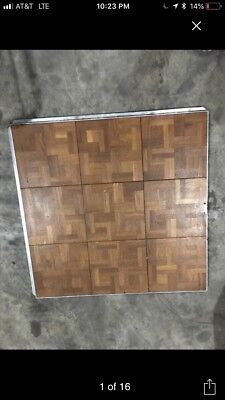 150 pieces portable hardwood dance floor with edges