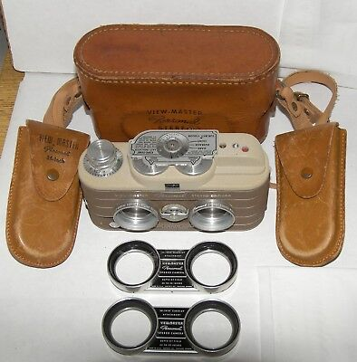 Sawyers View Master Personal Stereo Camera Brown Tan 25mm f3.5 Close Up Lens