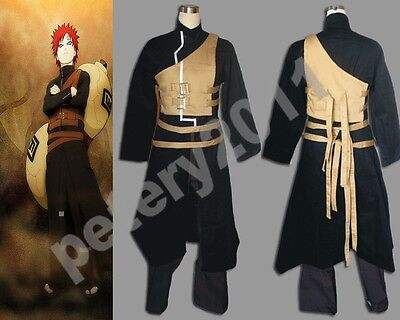 Shippuden Gaara Men's 2nd Cosplay Costume Halloween from Naruto New