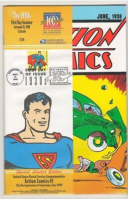 Action Comics #1 USPS First Day Of Issue Superman Commemorative Book Stamp