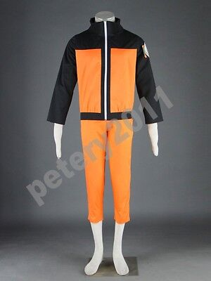 Naruto Shippuden Naruto Uzumaki 2nd Children Cosplay Costume Halloween New