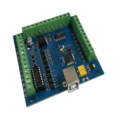 CNC  USB 4Axis 100KHz Smooth Stepper Motion Control Card Breakout Board