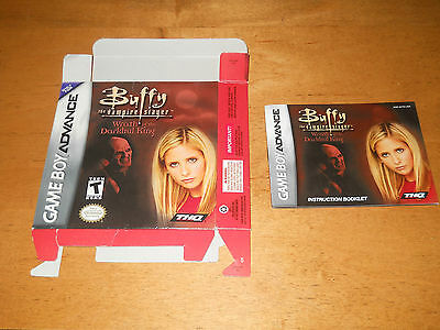Buffy the Vampire Slayer Wrath of Darkhul King BOX and MANUAL only for GBA