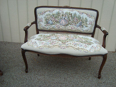 59159 French Country ROSALCO ITALY Bergere Loveseat Sofa Chaise Chair