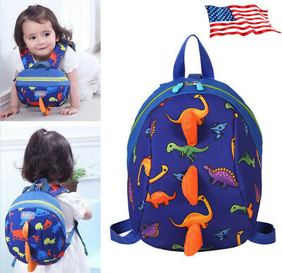 Kids Safety Harness Leash Anti Lost Backpack Strap Bag For Walking Toddler Blue