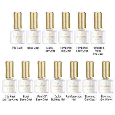 BORN PRETTY 6ml Base Top Coat Matte Peel Off Fast Dry Magic Burst Remover Gel