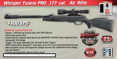 GAMO BIG CAT 1250  177 cal with 4x32 Scope Platinum Air Rifle