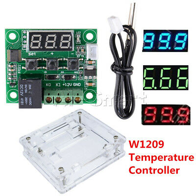 W1209 DC 12V NTC10K 1% 3950 Cable Digital Thermostat Temperature Controller