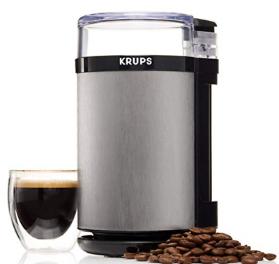 Coffee Grinder Electric Spice Herbs KRUPS GX4100  with Stainless Steel Blades
