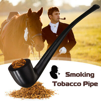 Ebony Long Wooden Enchase Smoking Filter Pipe Tobacco Cigarettes Cigar Pipes
