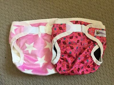 2 x Baby Beehinds PUL Covers - LARGE, girl colours, Brand New
