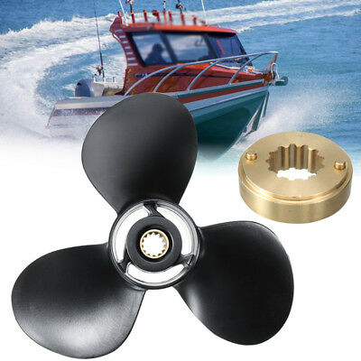Boat Aluminum Outboard Propeller For Mercury 25-70HP 48-19640A40 10 3/8 X 13