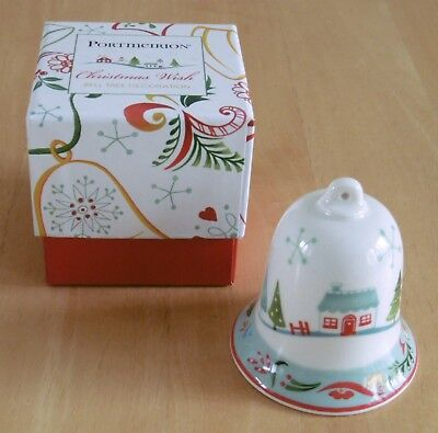 Portmeirion Christmas Wish Ceramic Bell Tree Decoration (Boxed)