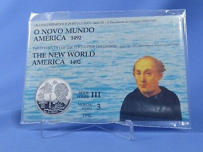 Portugal 200 Escudos 1992, The New World America , Silber *ST* , OVP (18873)