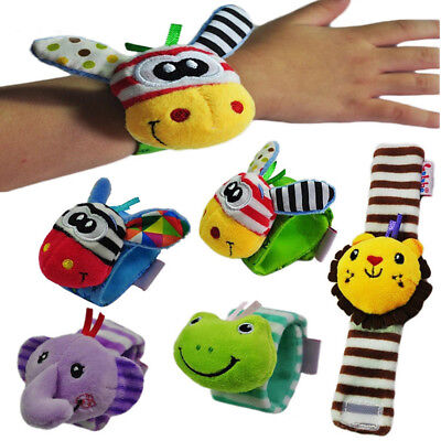 1pc Newborn Baby Boy Girl Infant Soft Toy Wrist Band Rattles Finders Wristband S