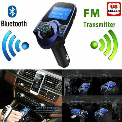 Wireless Bluetooth FM Transmitter Car FM Radio Charger Handsfree Kit USB charger